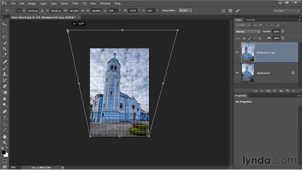 Correcting perspective: Photoshop CC Image Cleanup Workshop