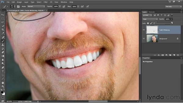 Brightening and whitening: Photoshop CC Image Cleanup Workshop