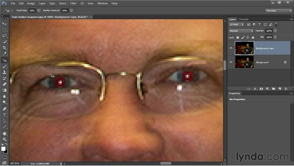 Red-eye removal: Photoshop CC Image Cleanup Workshop