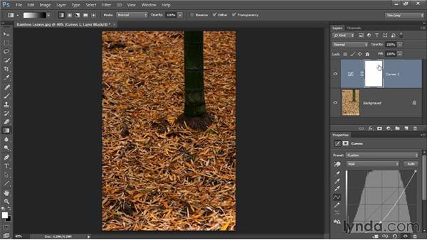 Gradient adjustments: Photoshop CC Image Cleanup Workshop