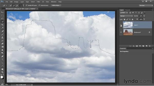 Replacing a bad sky: Photoshop CC Image Cleanup Workshop