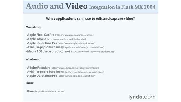 video applications: Flash MX 2004 Audio & Video Integration