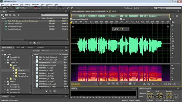 Importing audio files and browsing media: Audition CC Essential Training