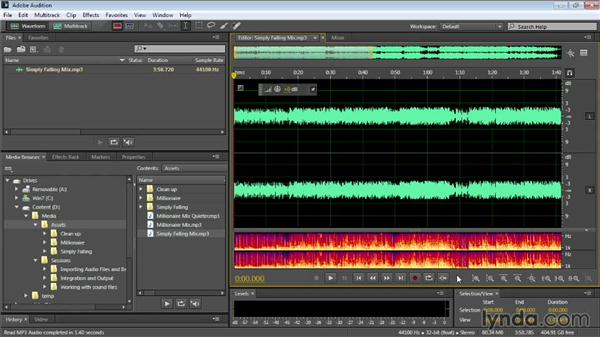 Using the zoom controls: Audition CC Essential Training