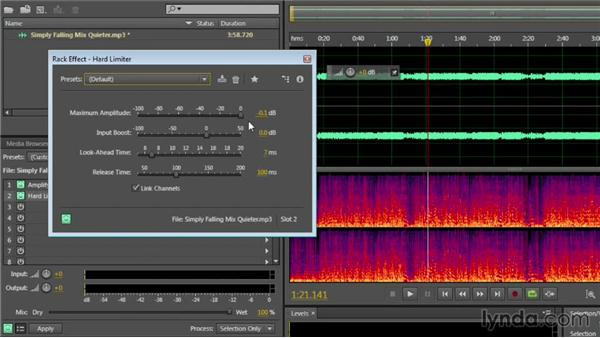 Using the Effects Rack to combine effects: Audition CC Essential Training