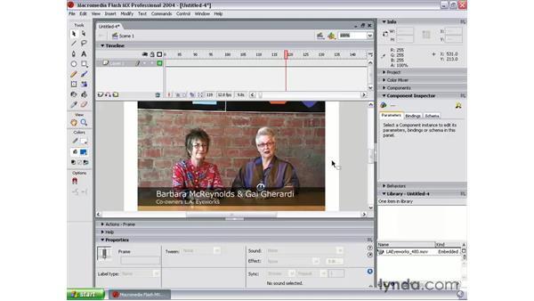 creating an FLV using Flash MX 2004: Flash MX 2004 Audio & Video Integration