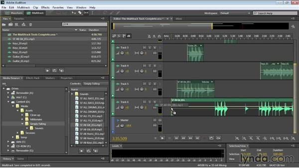 The multitrack tools: Audition CC Essential Training