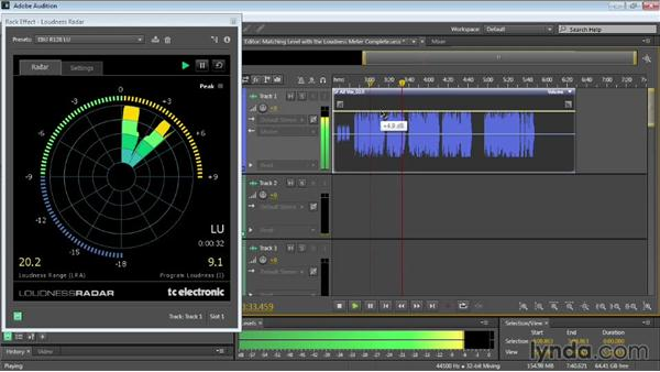 Analyzing level with the Loudness Radar Meter: Audition CC Essential Training