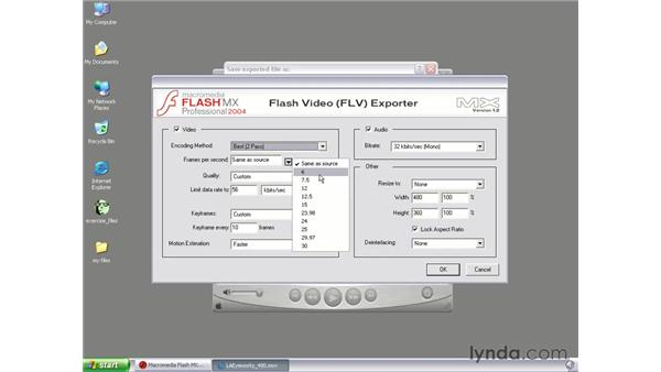 creating an FLV using Exporter plug-in: Flash MX 2004 Audio & Video Integration