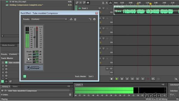 Adding compression: Audition CC Essential Training