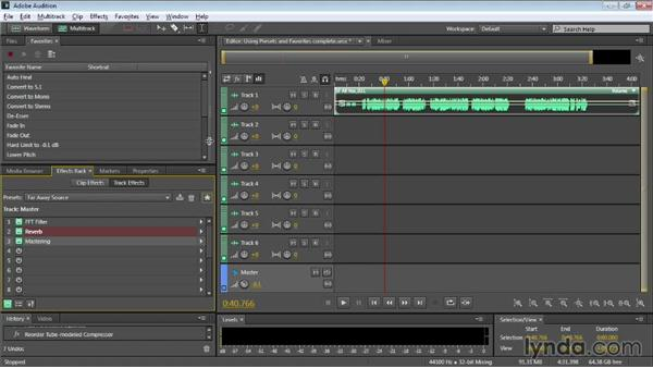 Using presets and favorites: Audition CC Essential Training