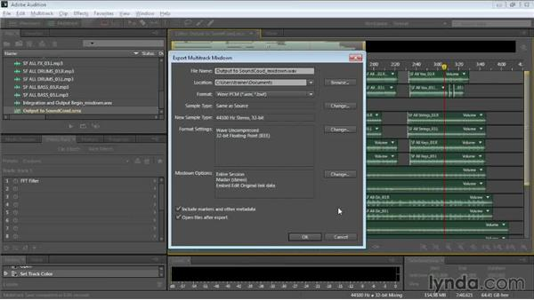 Outputting to SoundCloud: Audition CC Essential Training