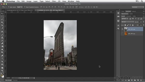 Setting up the project and creating the clipping mask: Photoshop for Designers: Working with Illustrator