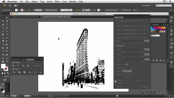 Incorporating a traced version of the image: Photoshop for Designers: Working with Illustrator