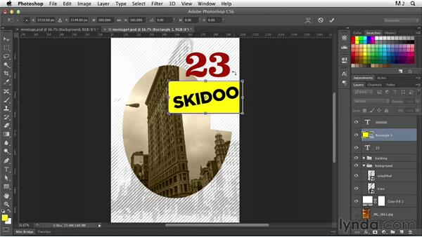 Adding type and texture: Photoshop for Designers: Working with Illustrator