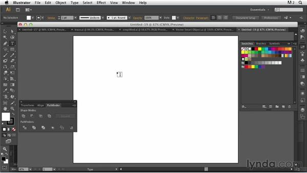 Incorporating a glyph from Illustrator: Photoshop for Designers: Working with Illustrator