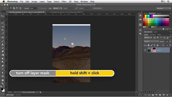 Preparing the background with layer masks and textures: Photoshop for Designers: Working with Illustrator