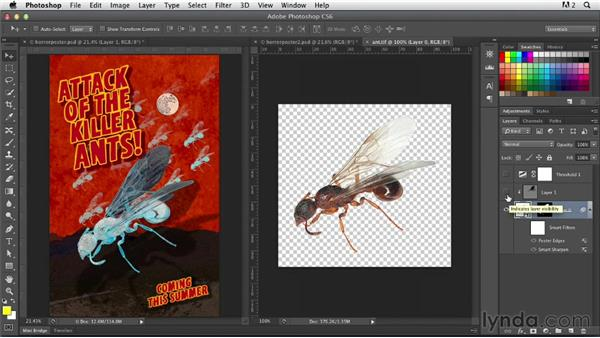 Combining Photoshop with Image Trace in Illustrator: Photoshop for Designers: Working with Illustrator