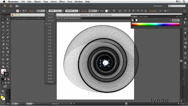 Converting a filtered transformation into a custom brush: Photoshop for Designers: Working with Illustrator