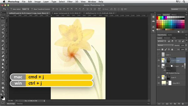 Continuing with abstract transformations: Photoshop for Designers: Working with Illustrator