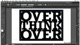 Image for Creating a typographic treatment using Live Paint and a Photoshop texture