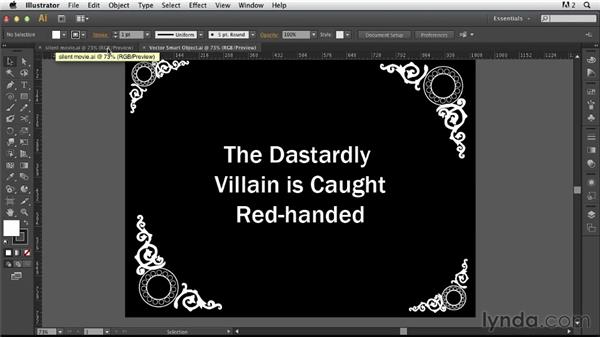 Adding type and duplicating elements: Photoshop for Designers: Working with Illustrator