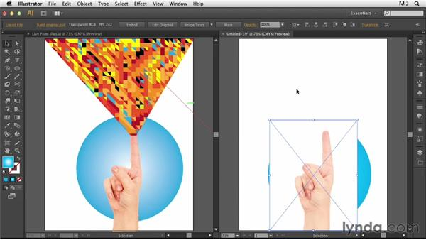 Overview and creating a mask for the photo: Photoshop for Designers: Working with Illustrator