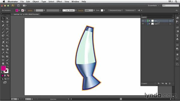 Exporting the edited symbol as a layered Photoshop document: Photoshop for Designers: Working with Illustrator