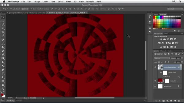 Applying texture to a polar grid: Photoshop for Designers: Working with Illustrator