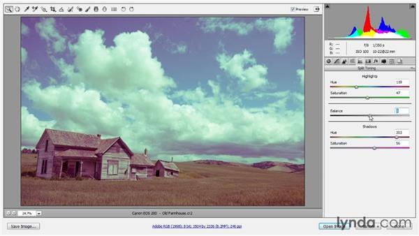 Split toning: Photoshop CC Raw Workshop