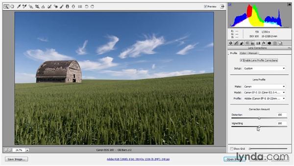 Compensating for lens vignetting: Photoshop CC Raw Workshop