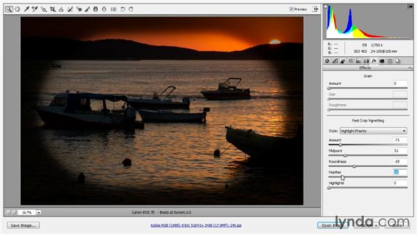 Creative vignetting: Photoshop CC Raw Workshop