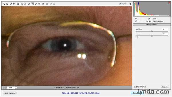 Red-eye removal: Photoshop CC Raw Workshop