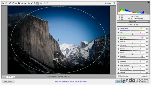 The Radial filter: Photoshop CC Raw Workshop