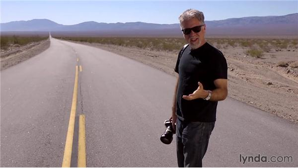 Getting a shot that includes the road: Travel Photography: Desert Road Trip