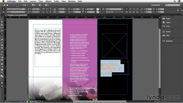 Adding and editing text: InDesign CC Essential Training (2013)