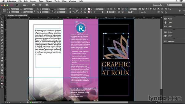Adding and replacing graphics: InDesign CC Essential Training (2013)