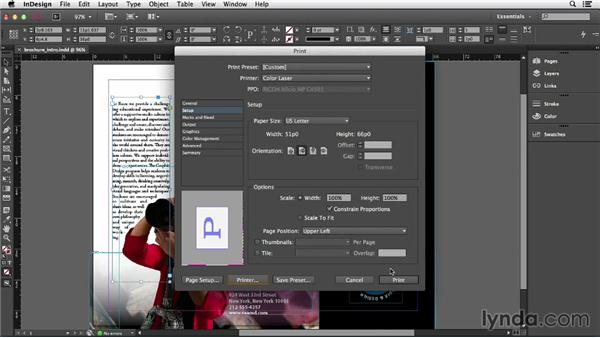 Printing and creating a PDF: InDesign CC Essential Training (2013)