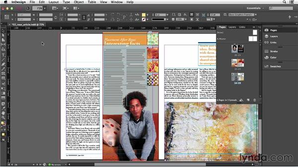 Navigating and magnifying pages and objects: InDesign CC Essential Training (2013)