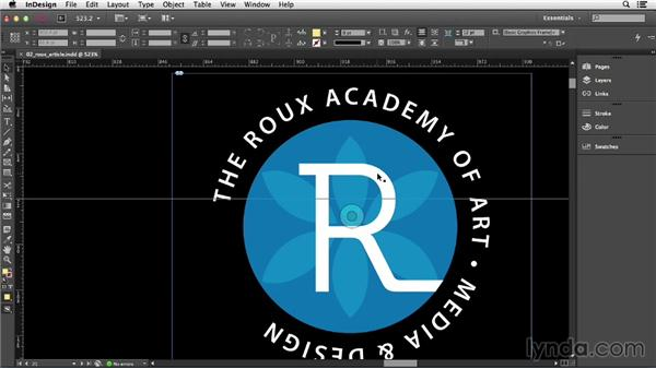 Setting the view quality of artwork: InDesign CC Essential Training (2013)