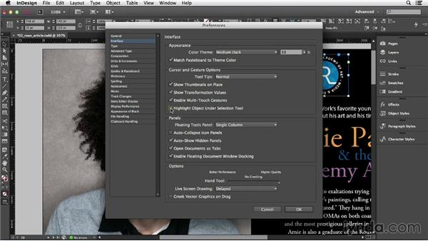 Adjusting view and preview settings: InDesign CC Essential Training (2013)