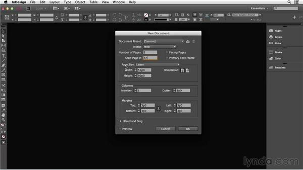 Creating a new document: InDesign CC Essential Training (2013)