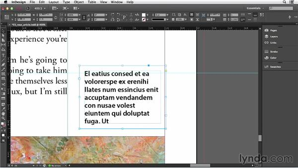 Putting ruler guides on your page: InDesign CC Essential Training (2013)