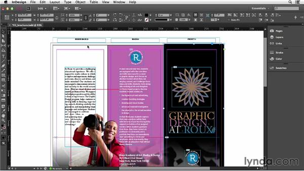 Bleeding colors or images off the side of the page: InDesign CC Essential Training (2013)