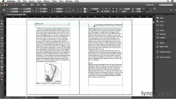 Overriding master page items: InDesign CC Essential Training (2013)