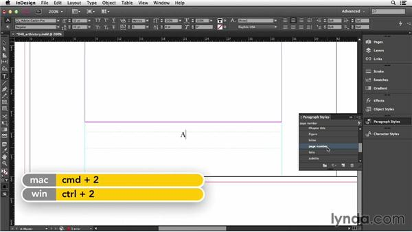 Adding page numbering: InDesign CC Essential Training (2013)