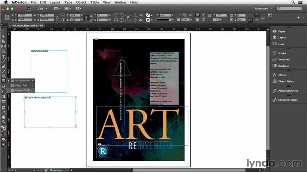 Understanding text frames: InDesign CC Essential Training (2013)