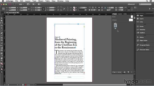 Importing text: InDesign CC Essential Training (2013)