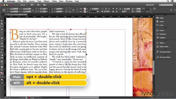 Setting text frame columns: InDesign CC Essential Training (2013)