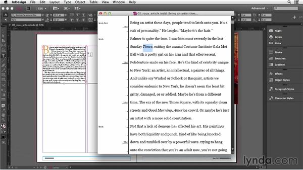 Using the Story Editor: InDesign CC Essential Training (2013)